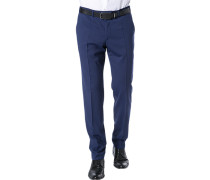 Hose, Extra Slim Fit, Schurwolle, royal