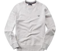 Sweatshirt, Baumwolle, ecru meliert