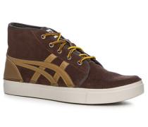 Schuhe Sneaker, Velours-Glattleder, dunkel