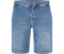Jeans Bermudashorts, Regular Fit, Baumwolle, hell
