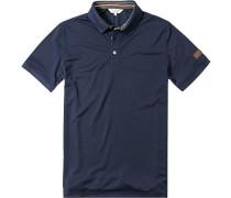 Polo-Shirt, Microfaser-Piqué, dunkel
