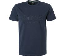 T-Shirt, Regular Fit, Baumwolle, dunkel