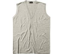 Pullover Strickweste, Seide-Kaschmir,  meliert