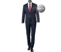 Anzug, Slim Fit, Jersey, dunkel meliert