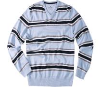 Pullover, Baumwolle, hell gestreift