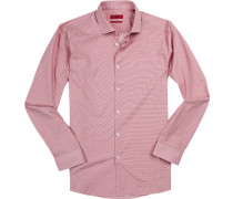 Hemd, Extra Slim Fit, Popeline, -weiß gemustert