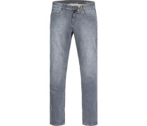 Jeans, Modern Fit, Baumwoll-Stretch, hell