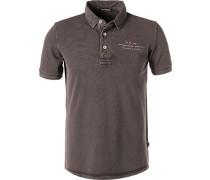 Polo-Shirt, Baumwoll-Piqué, grau