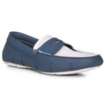 Schuhe Loafer, Mikrofaser wasserabweisend, -weiß