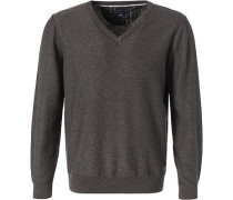 Pullover, Baumwolle, grau meliert