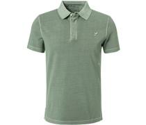 Polo-Shirt, Baumwoll-Pique, schilf