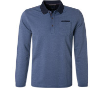 Polo-Shirt, Baumwolle, mittel meliert