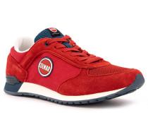 Schuhe Sneaker, Veloursleder, karmesin-petrol