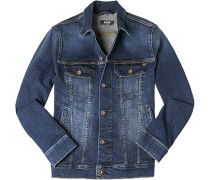 Jeansjacke, Slim Fit, Baumwolle, denim