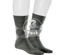 Socken, Baumwolle mercerisiert, hell kariert