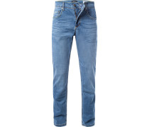 Jeans, Modern Fit, Baumwoll-Stretch, mittel