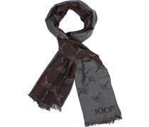 Schal, Modal-Wolle, -braun gemustert