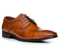 Schuhe Derby Orwin, Kalbleder, cognac