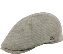Mütze, Leinen, taupe