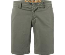 Hose Shorts, Baumwolle, khaki