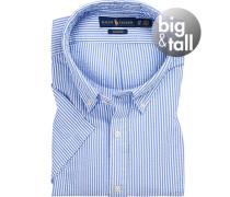 Kurzarmhemd, Big&Tall, Baumwolle, -weiß gestreift