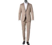 Anzug, Baumwoll-Stretch halbgefüttert