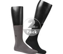 Socken, Baumwolle, schwarz-