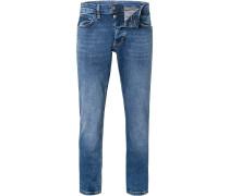 Jeans, Slim Fit, Baumwoll-Stretch, mittel