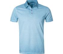 Polo-Shirt, Baumwoll-Jersey, hell gestreift