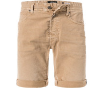 Jeansshorts, Baumwoll-Stretch, sand
