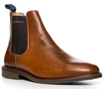 Schuhe Chelsea-Boots, Rindleder, cognac