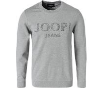 Sweatshirt, Baumwolle, grau meliert