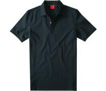 Polo-Shirt, Body Fit, Baumwoll-Piqué, marine