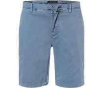 Hose Shorts, Slim Fit, Baumwolle, tauben