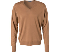 Pullover, Easy Fit, Merino Extrafine, camel
