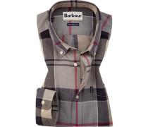 Hemd, Tailored Fit, Oxford, -rot kariert