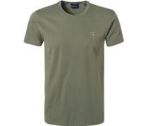 T-Shirt, Regular Fit, Baumwolle, jäger