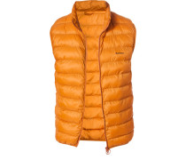 Jacke Steppweste, Mikrofaser, orange