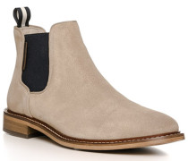 Schuhe Chelsea Boots, Kalbvelours, sand