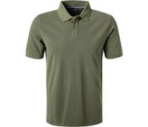 Polo-Shirt, Baumwoll-Piqué, dunkeloliv