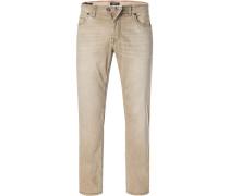 Jeans, Modern Fit, Baumwoll-Stretch, camel