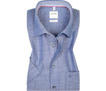 Hemd, Comfort Fit, Baumwolle, eis gemustert
