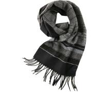 Schal, Kaschmir-Lammwolle, -schwarz gestreift