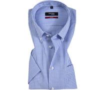 Kurzarmhemd, Modern Fit, Popeline, weiß- kariert
