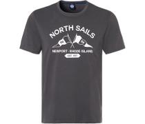 T-Shirt, Regular Fit, Baumwolle, graphit