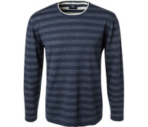 Pullover, Baumwolle,  gestreift