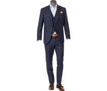 Anzug mit Weste, Comfort Fit, Schurwolle Super100
