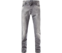 Jeans, Straight Fit, Baumwolle, hell