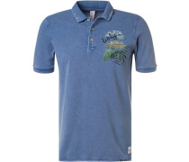 Polo-Shirt, Baumwoll-Piqué, indigo