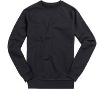 Sweatshirt, Slim Fit, Baumwolle, dunkel